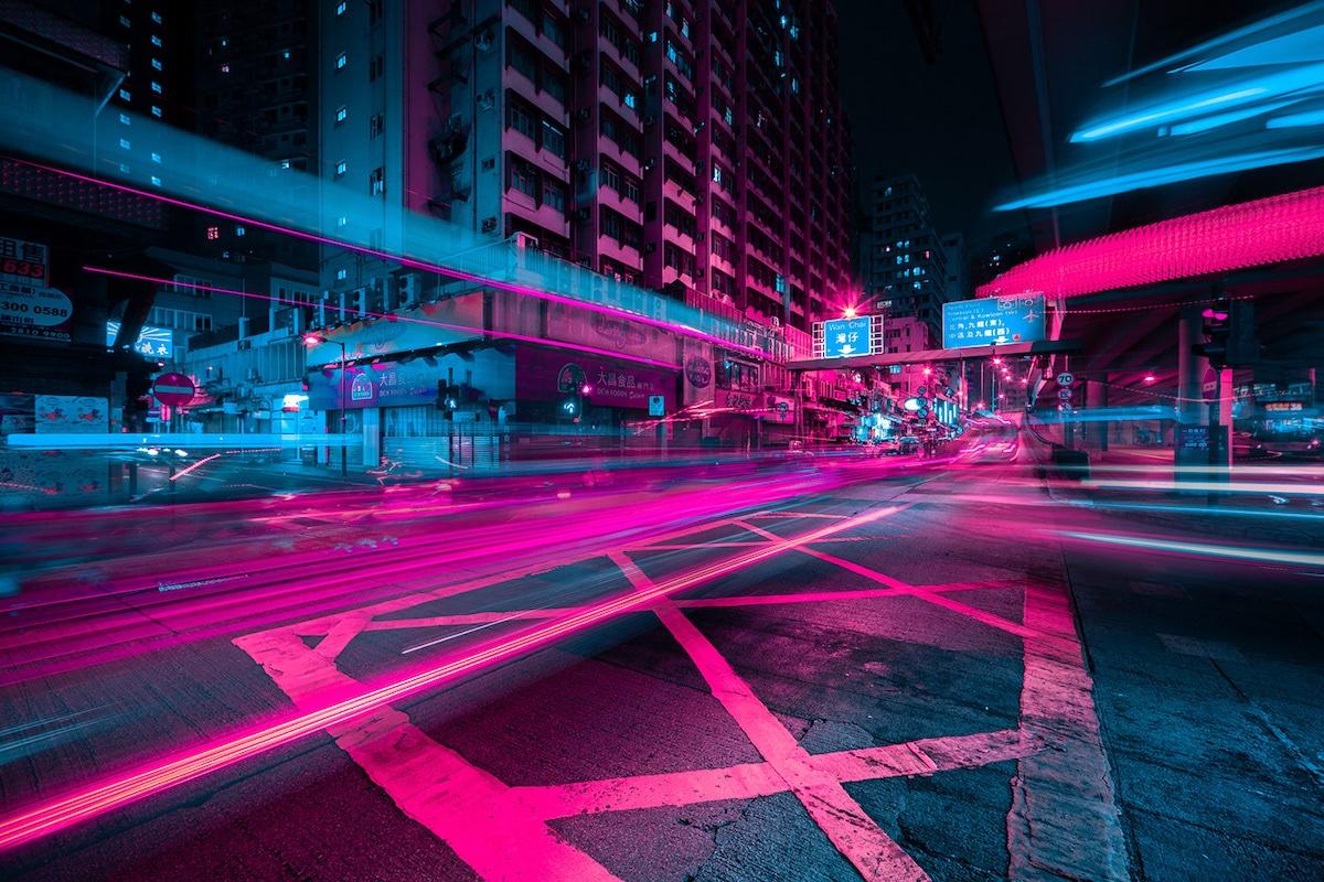 Hong Kong at Night by Xavier Portela