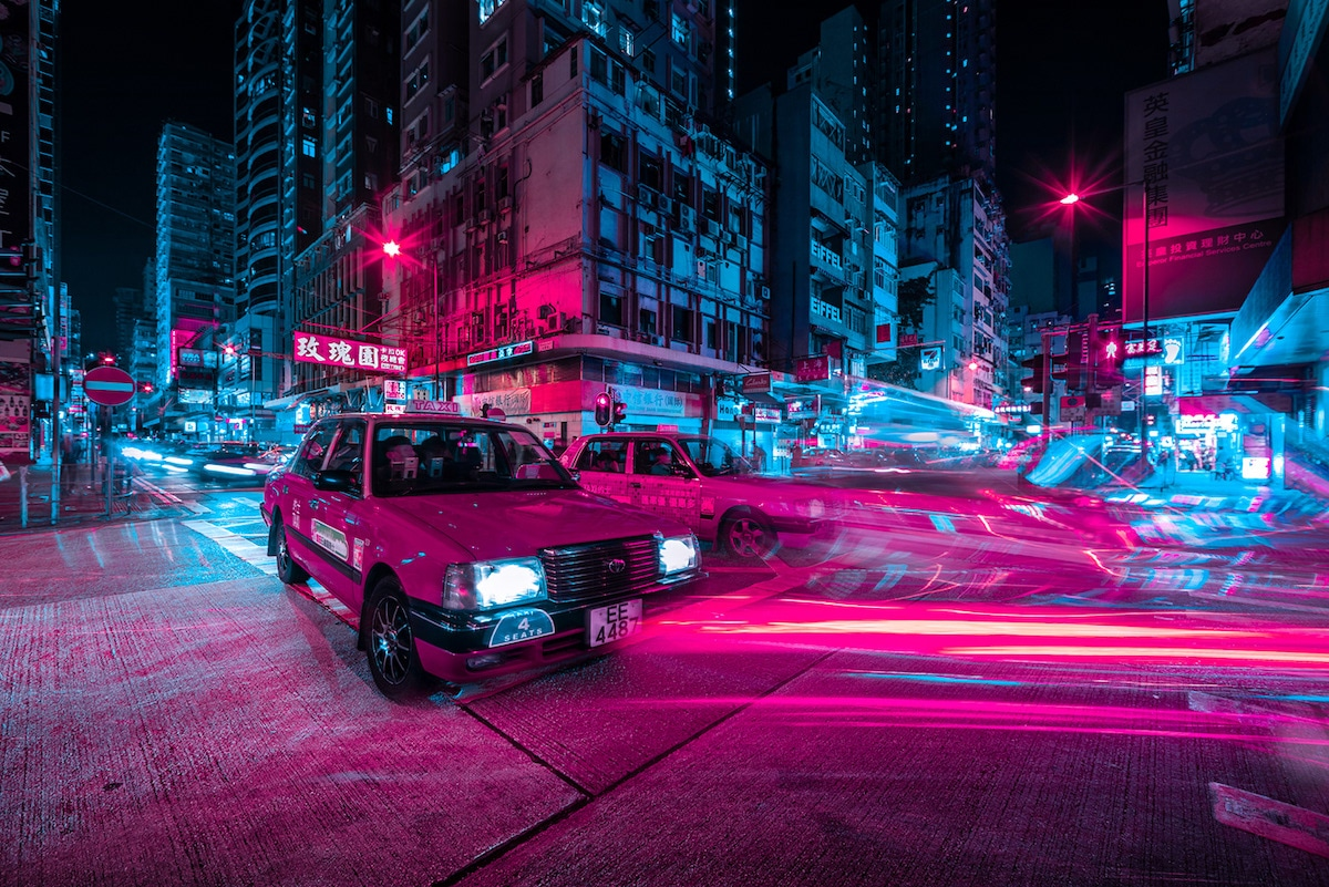 Taxi Cab in Hong Kong by Xavier Portela