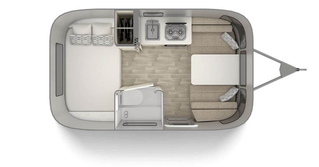 Airstream Bambi 16 Foot Trailer Floor Plan