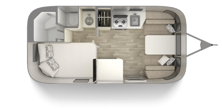 Airstream Bambi 19 Foot Trailer Floor Plan
