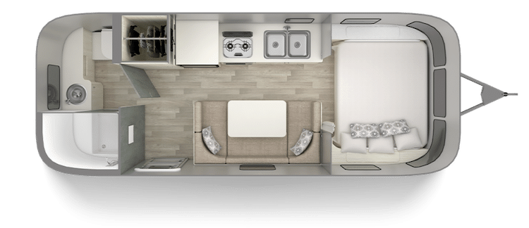 Airstream Bambi 22 Foot Trailer Floor Plan