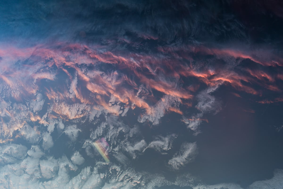 Earth Sunset from Space by Alexander Gerst/ESA