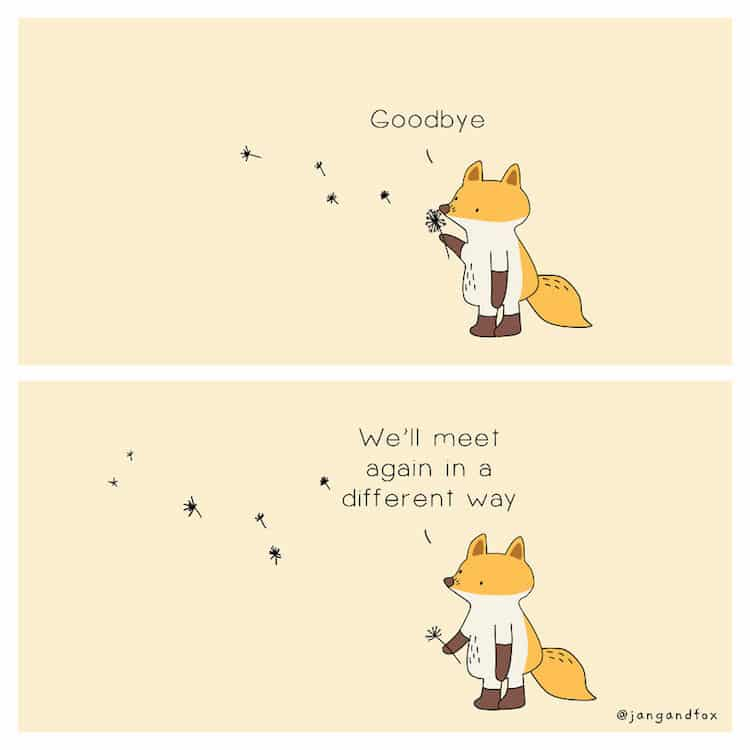 Mental Health Animal Comics by Jangandfox
