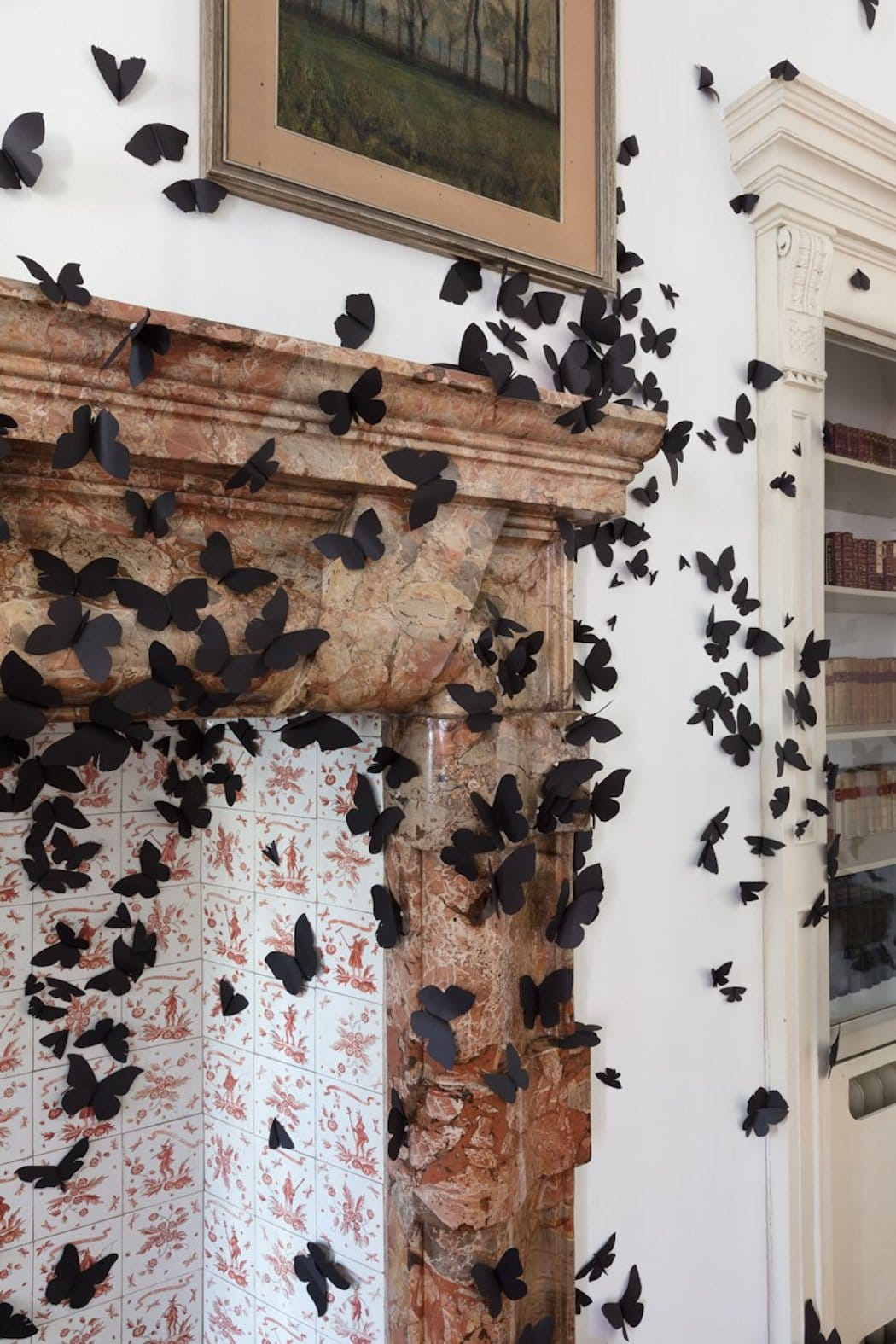 Black Butterfly Installation