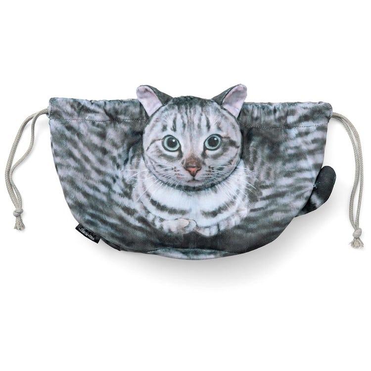 Kinchaku Draw-String Cat Bag by Felissimo