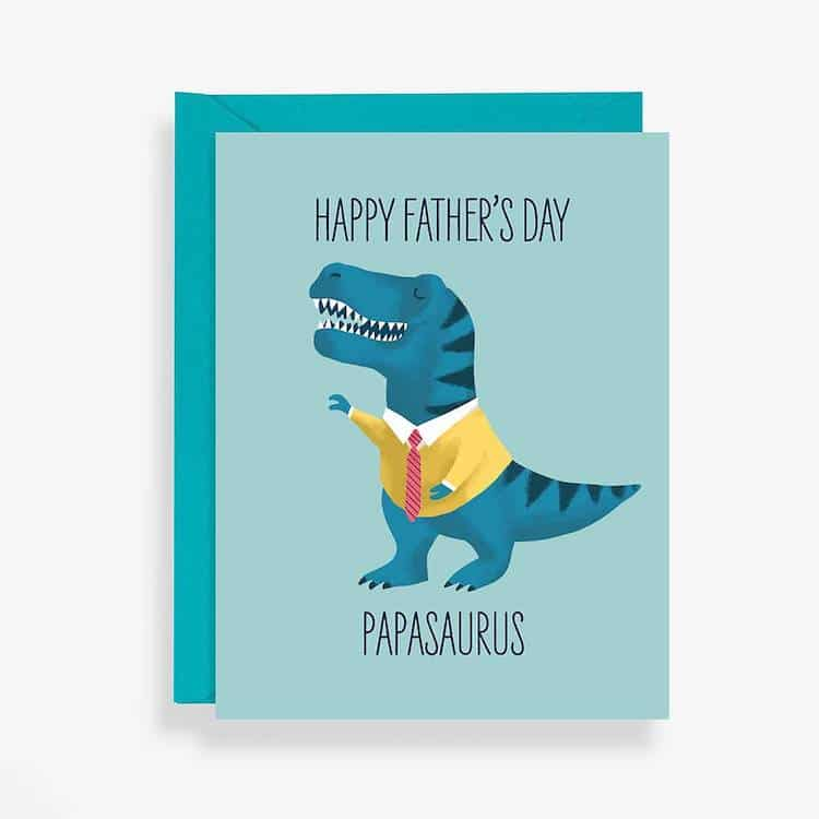 Papasaurus Father's Day Card