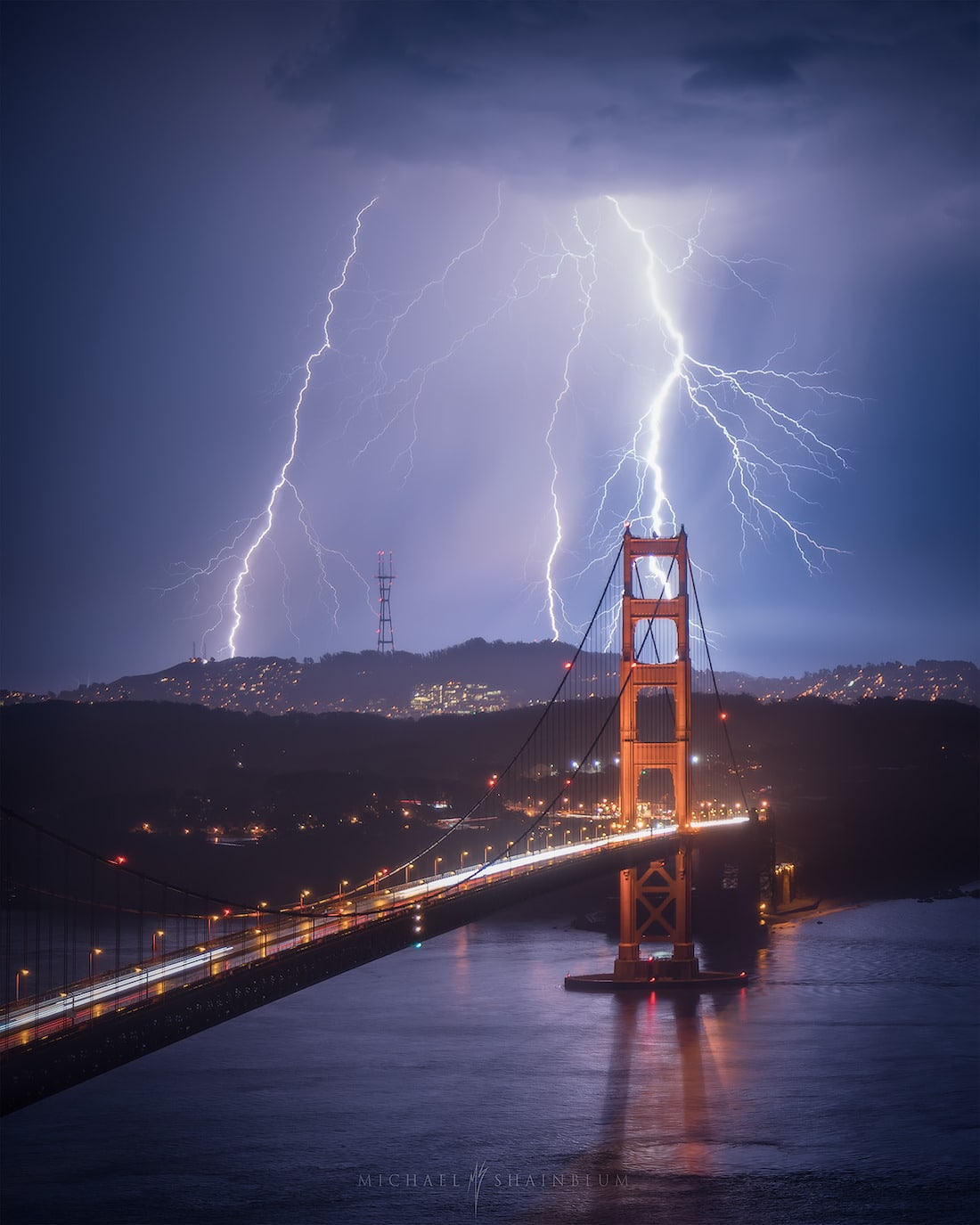 Golden Gate Bridge Lightning Photography