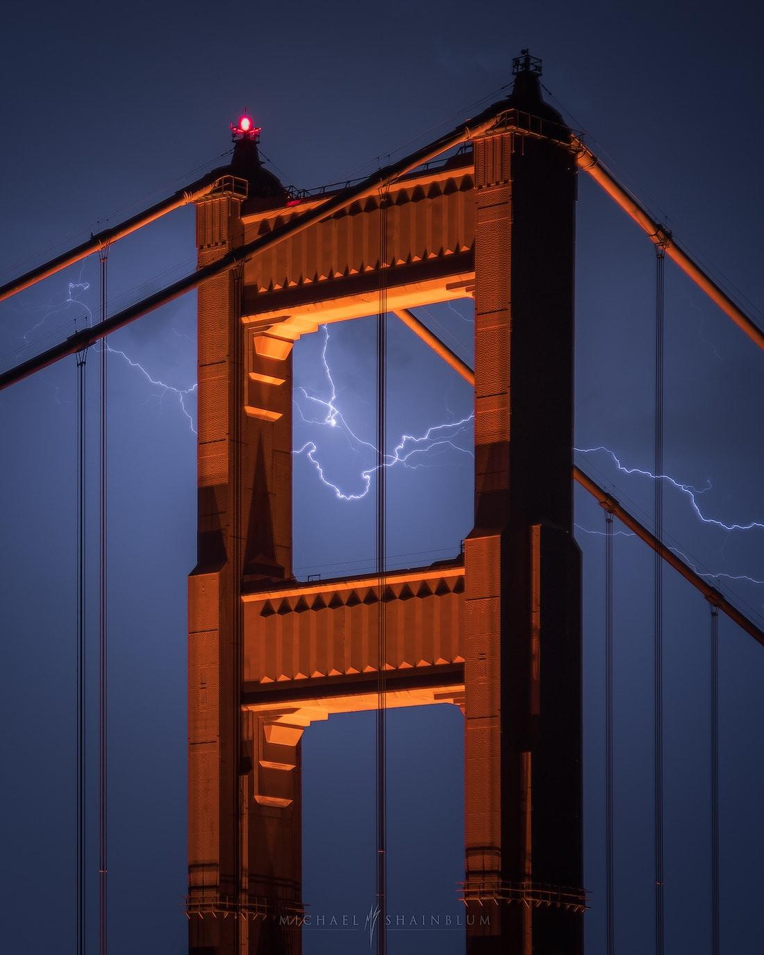 puente golden gate tormenta rayos