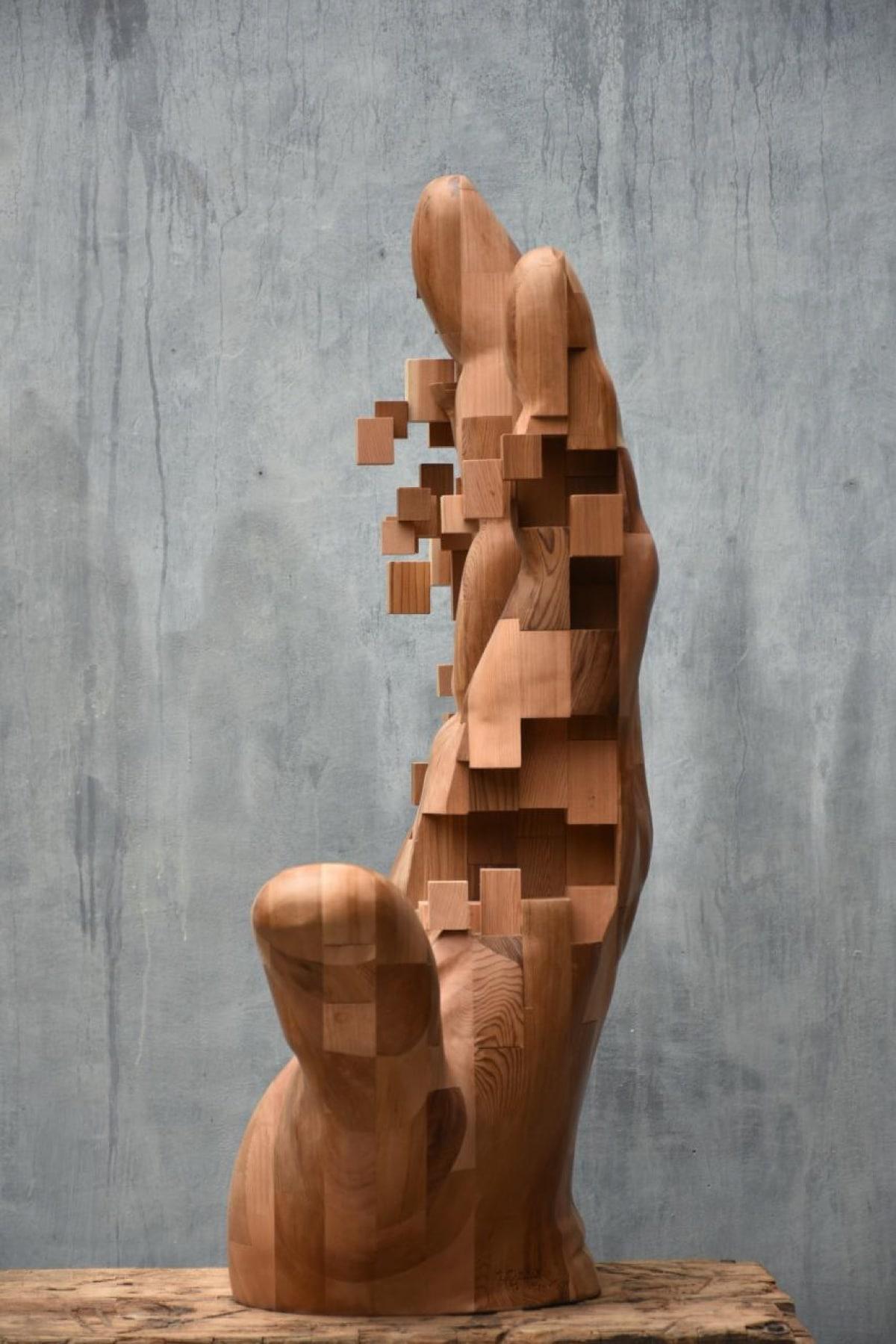 Hsu Tung Han esculturas pixeladas