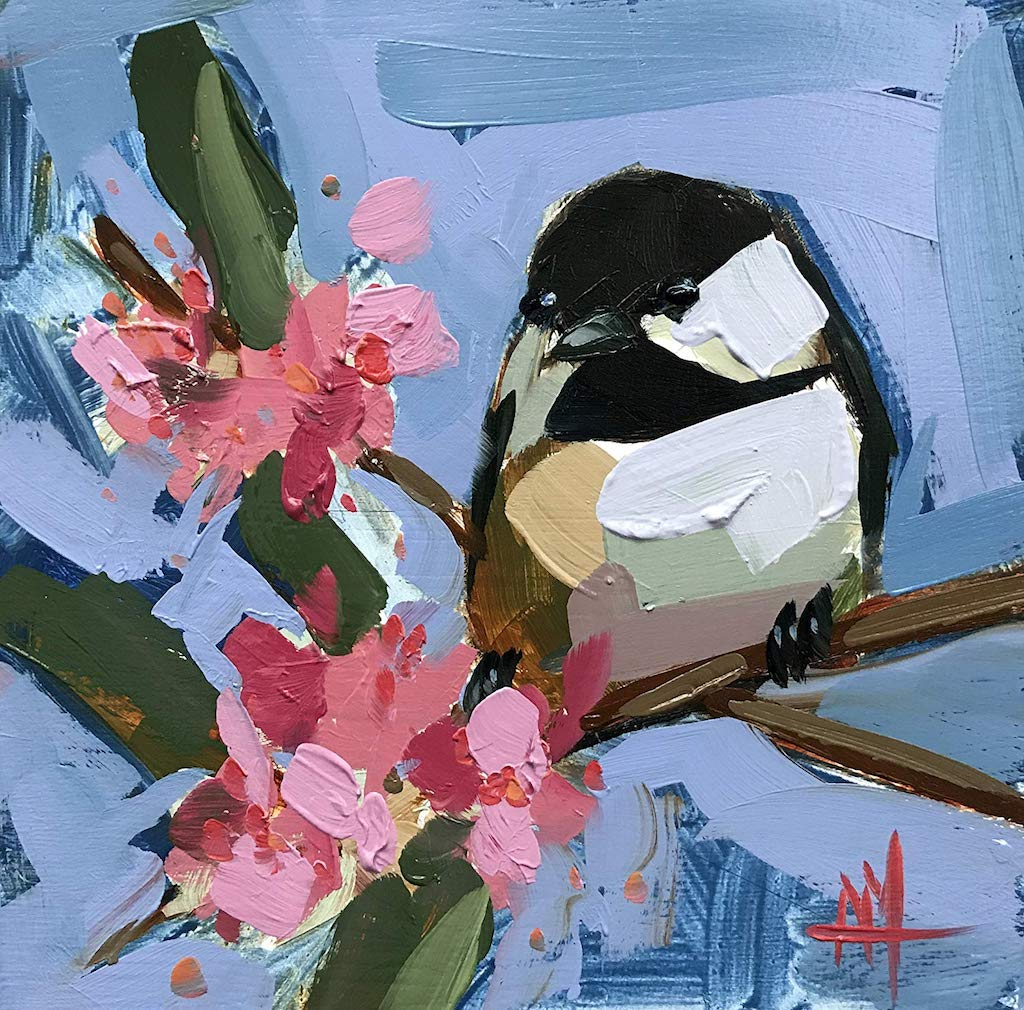 Impasto Bird Paintings by Angela Moulton
