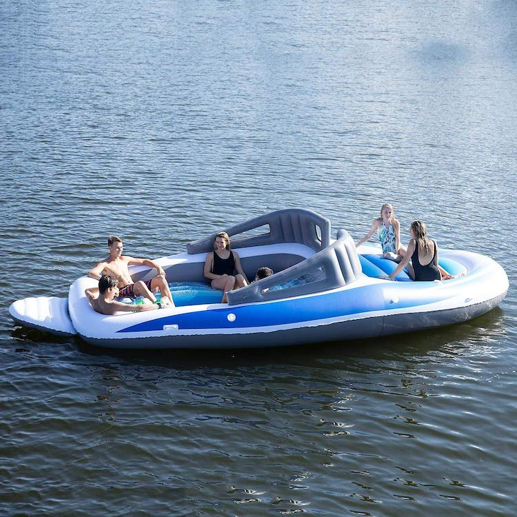 Float on Water in Style with This Inflatable Party Boat