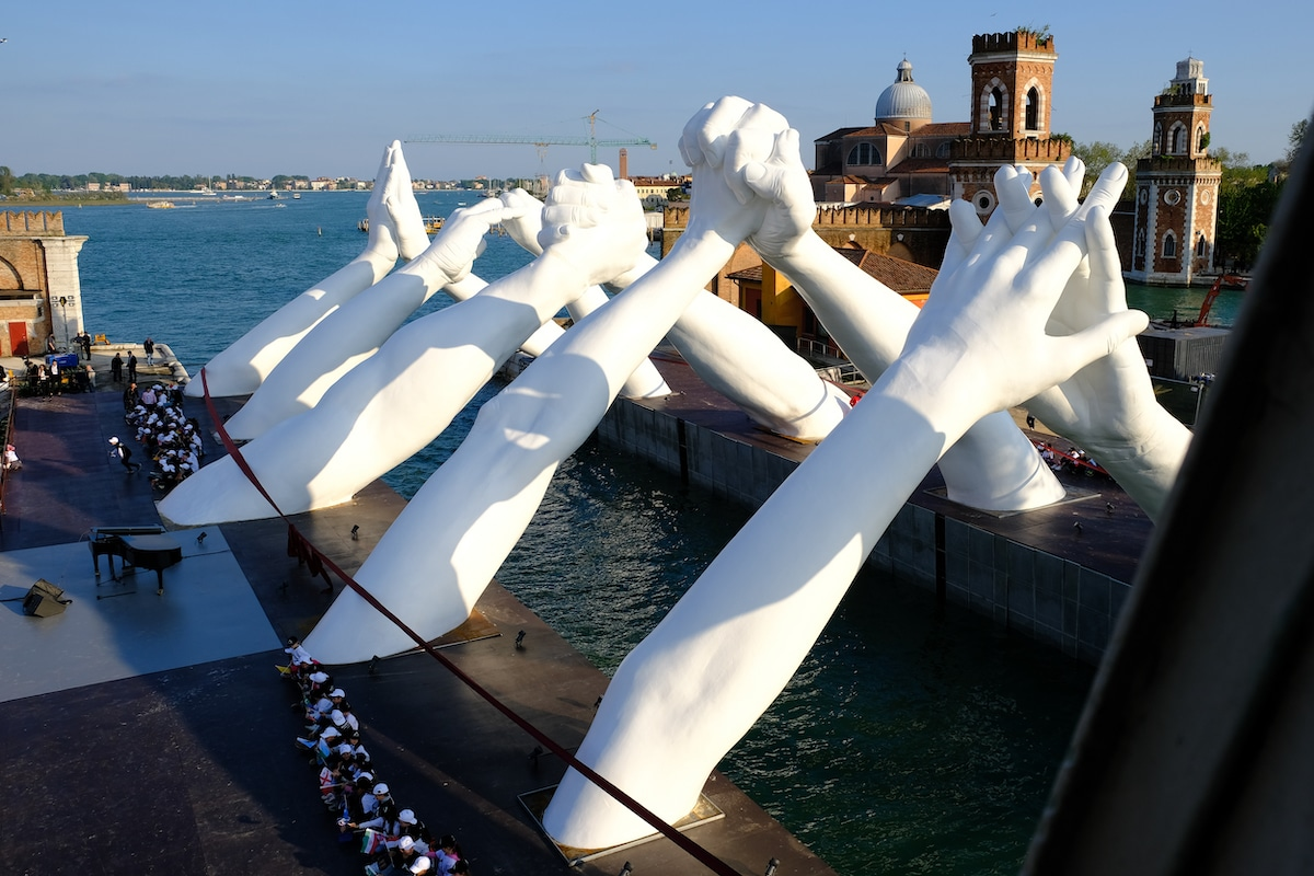 Venice Sculpture by Lorenzo Quinn