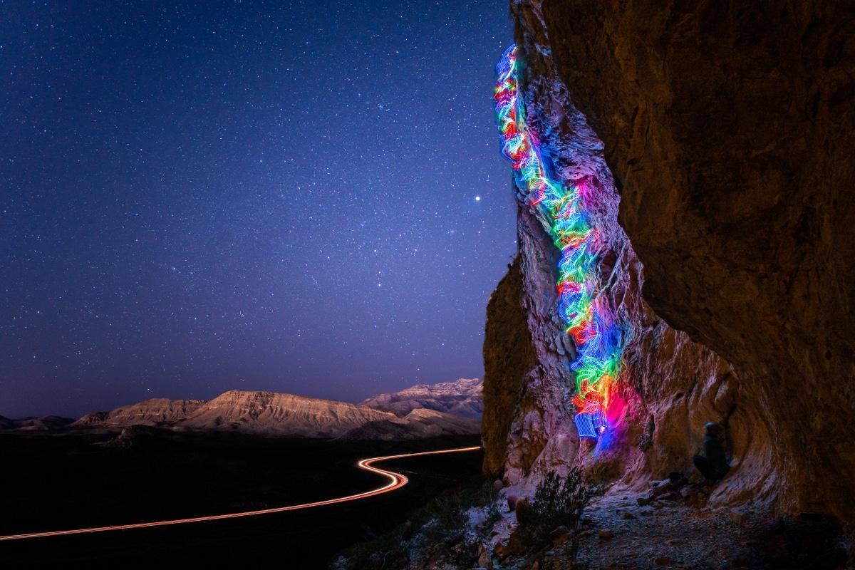 LED Climbing Long Exposure