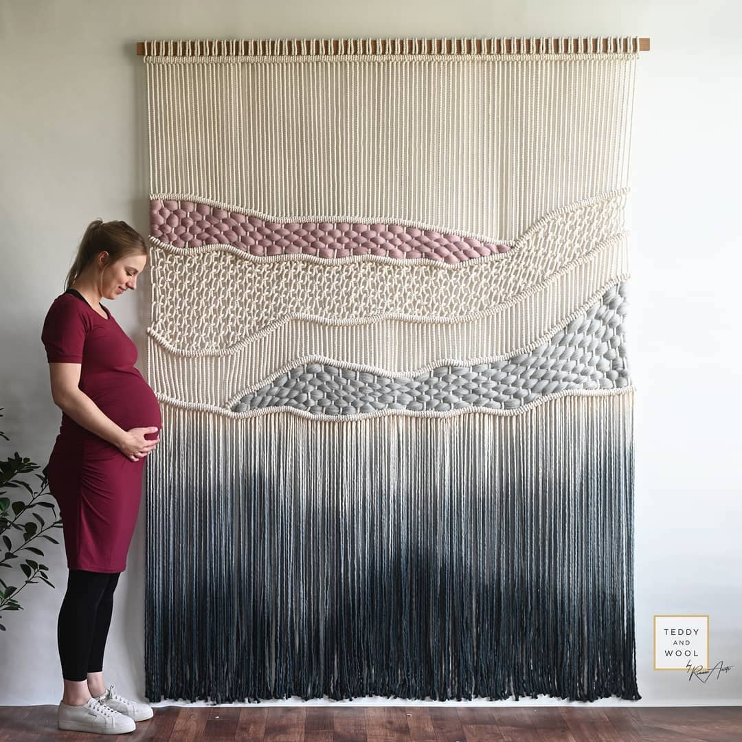 Dip Dyed Macrame Wall Hangings Colorfully Modernize The