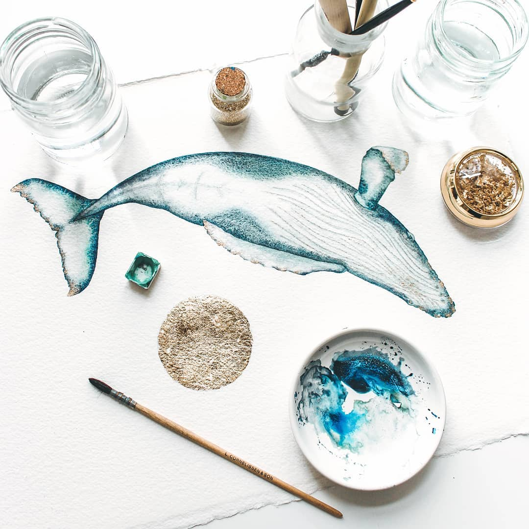 Marine Life Watercolor Illustrations by Canan Esen