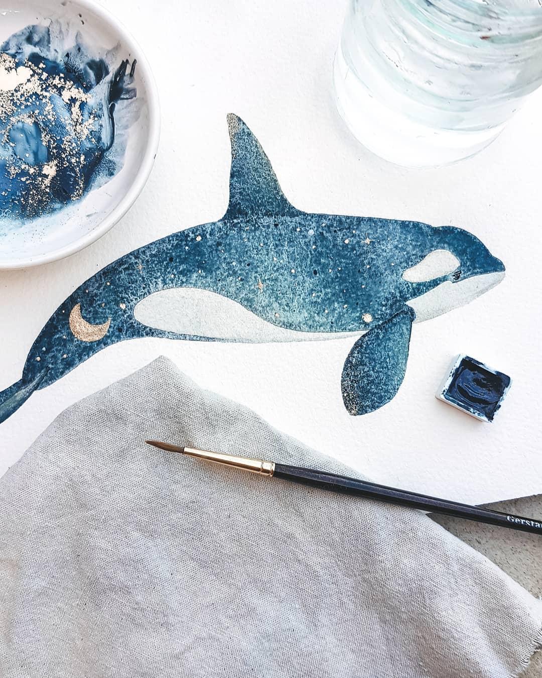 Incantevoli acquerelli catturano la magia della vita nell'oceano di Canan Esen