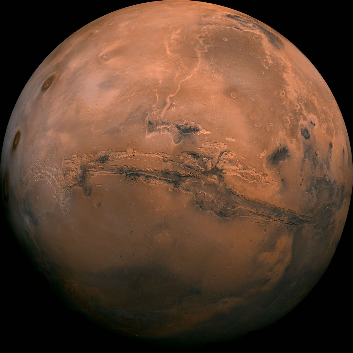 NASA Photo of Mariner Valley on Mars