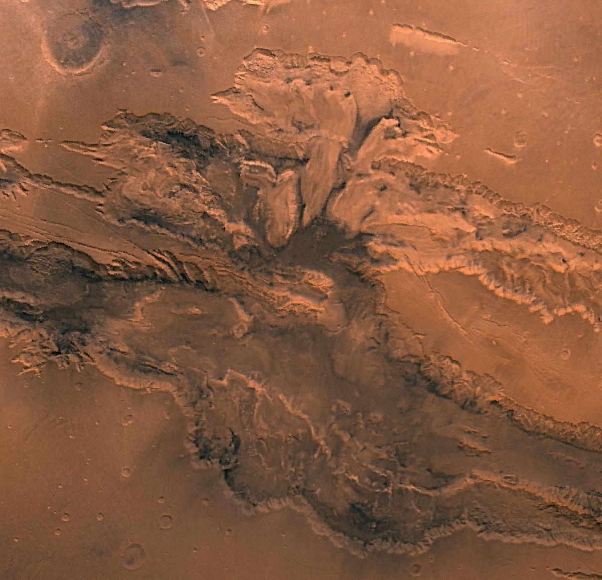 Valles Marineris on Mars - NASA Photo