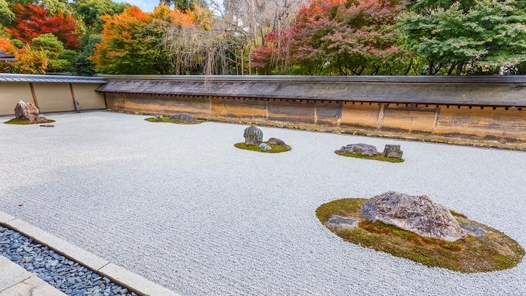 Ryoan-ji - jardín zen en kioto
