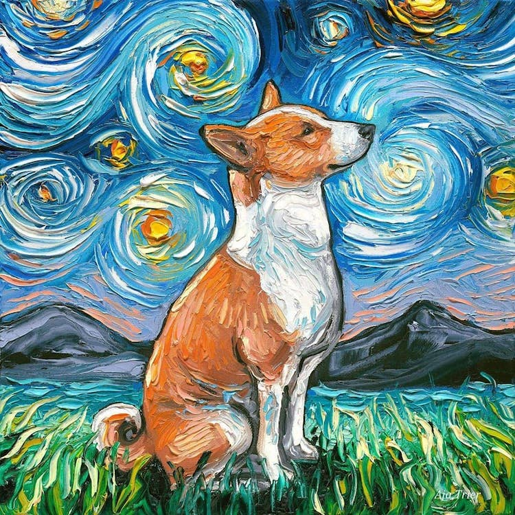 Dogs in Starry NIght