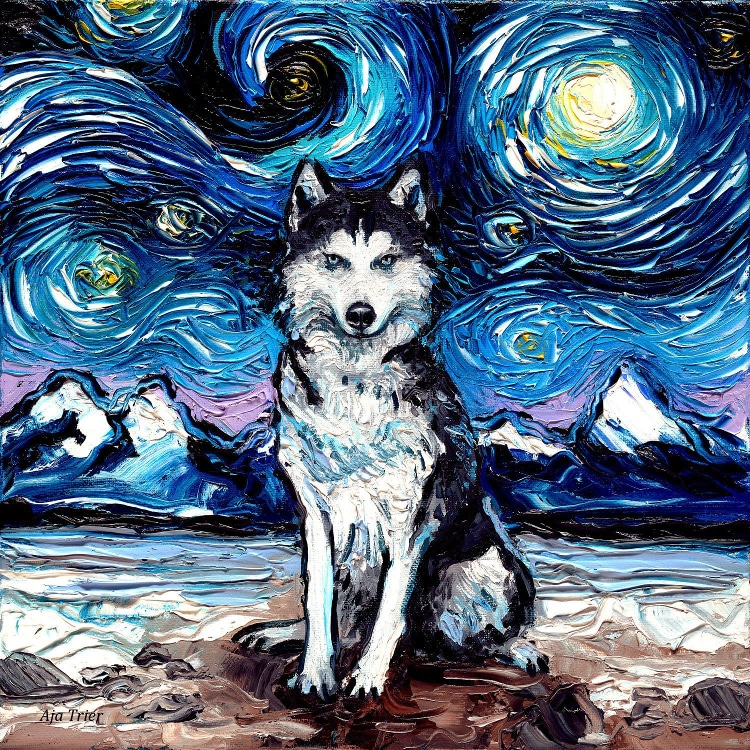 Starry Night Dogs