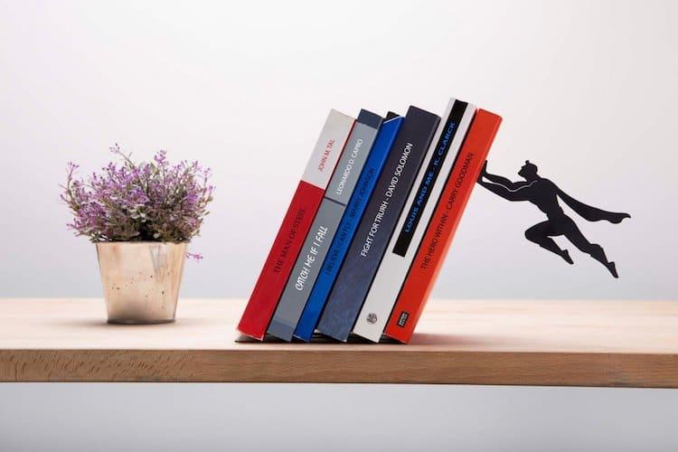 """Book & Hero"" Superhero Bookend by Artori Design"