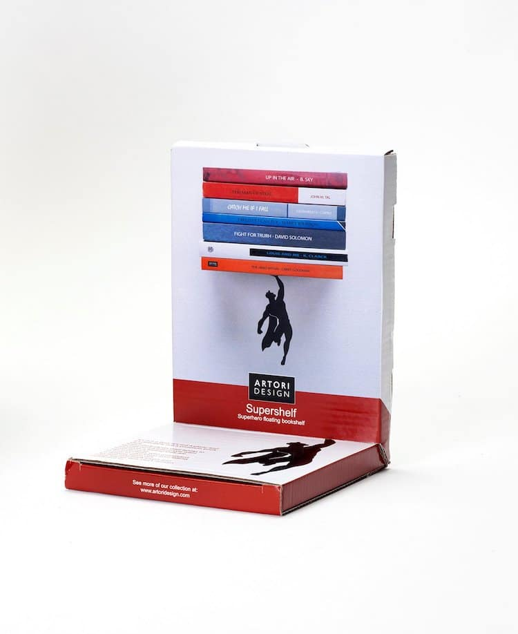 Superhero Bookshelves by Atori Design