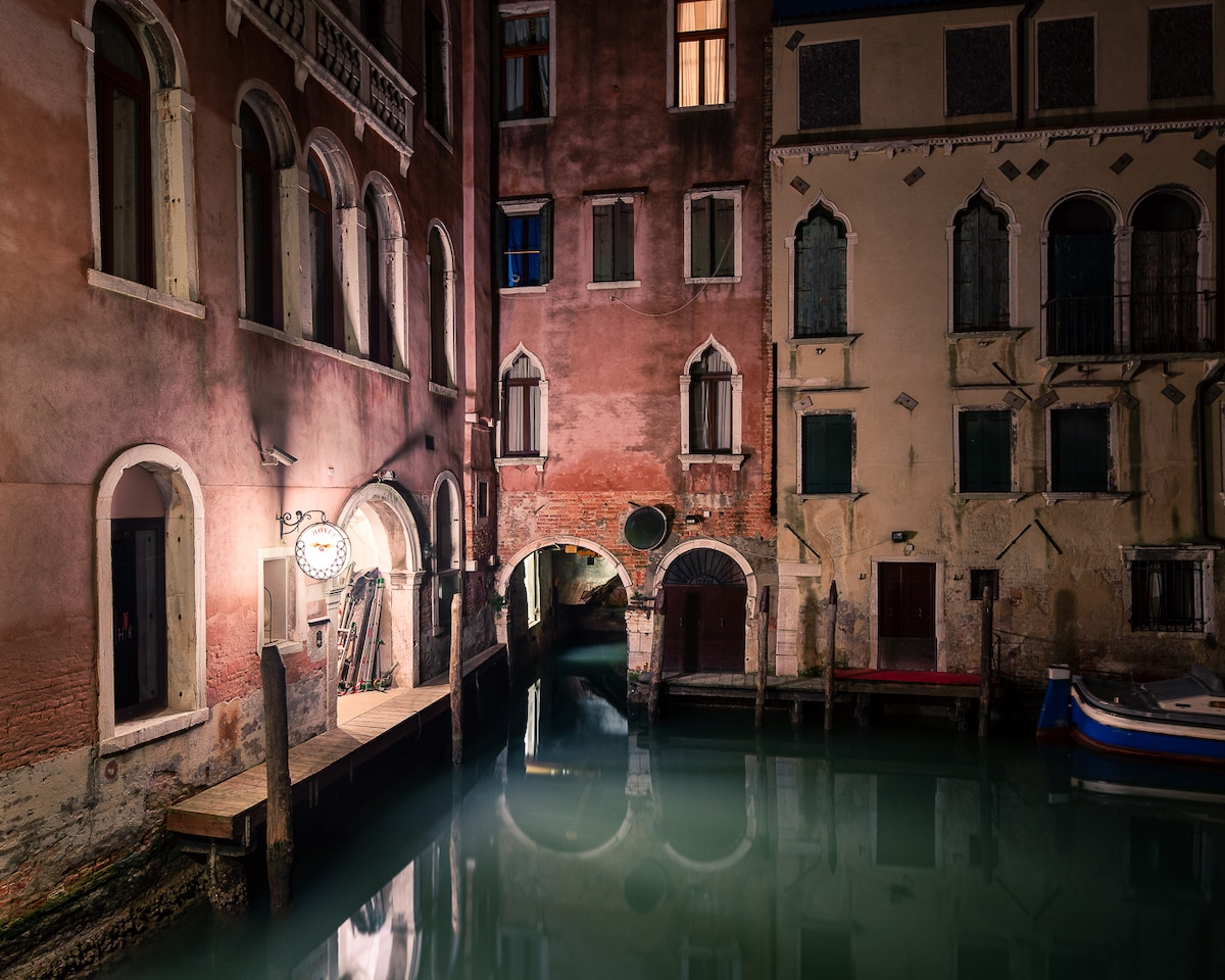 Nighttime Photo of Venice