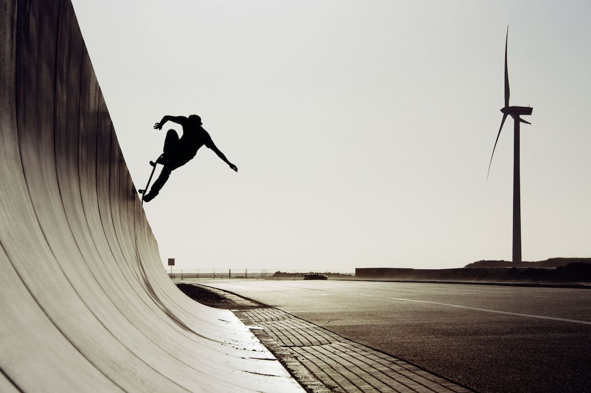 Skateboarder on a Halfpipe