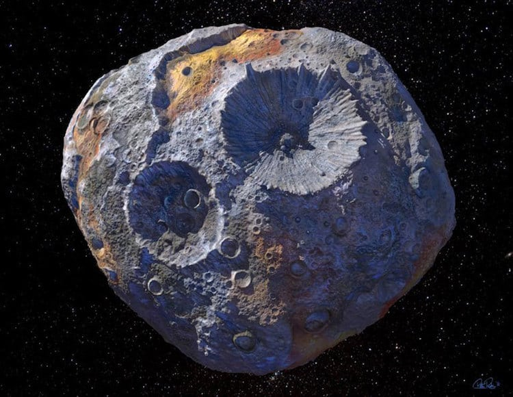 16 Psyche Metal Asteroid