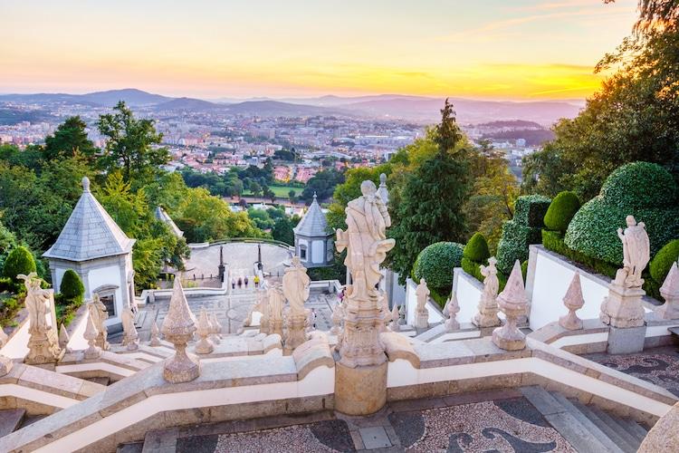 Santuario de Bom Jesus do Monte en Braga, Portugal