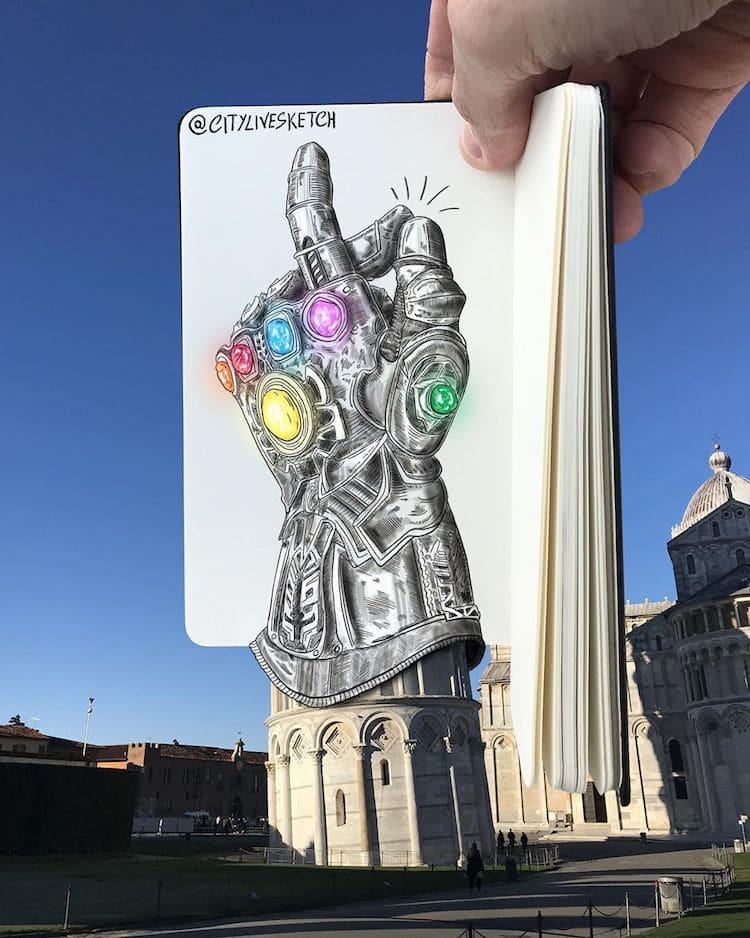 dibujos en 3d de avengers
