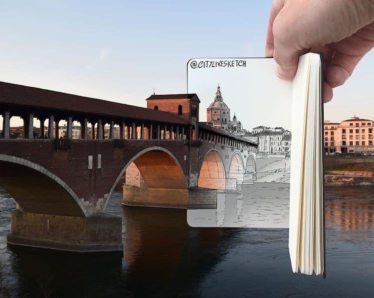 dibujos en 3d por Pietro Cataudella CityLiveSketch