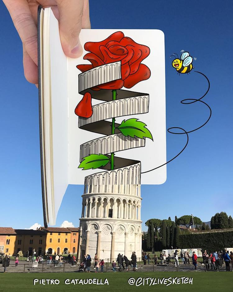 3D Drawings by Pietro Cataudella CityLiveSketch