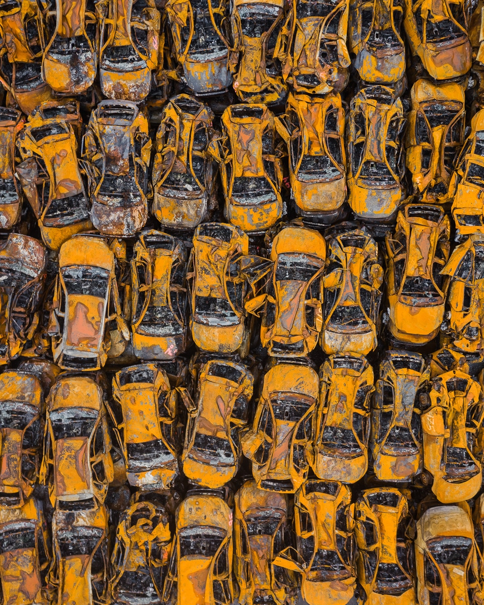 Abstract Aerial Photograph of Cars