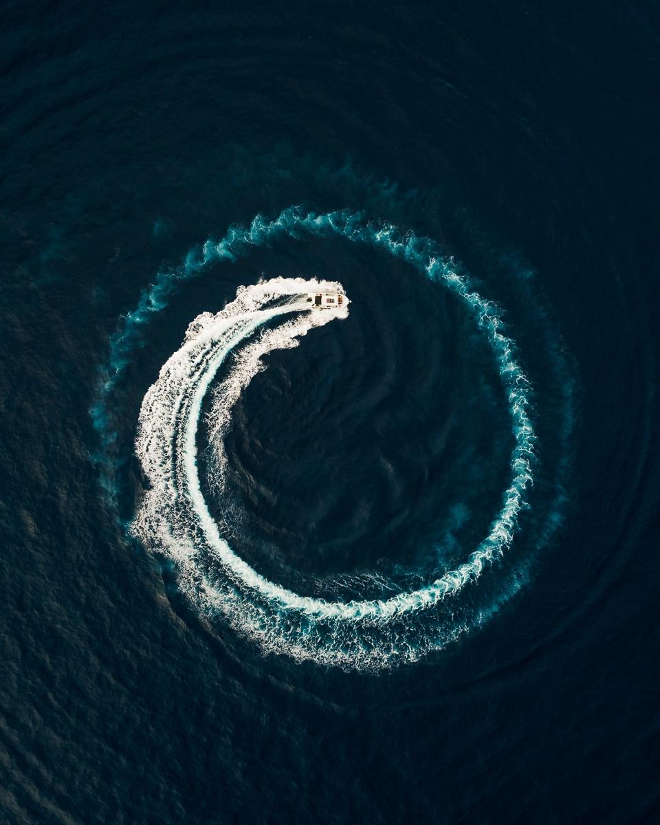 fotografía con dron - mar