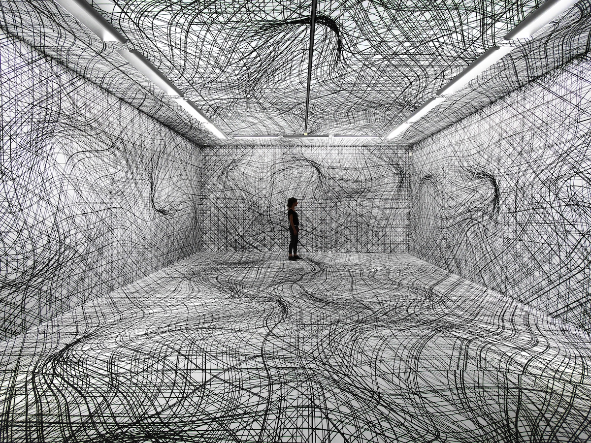 Room Art Installation by Peter Kogler
