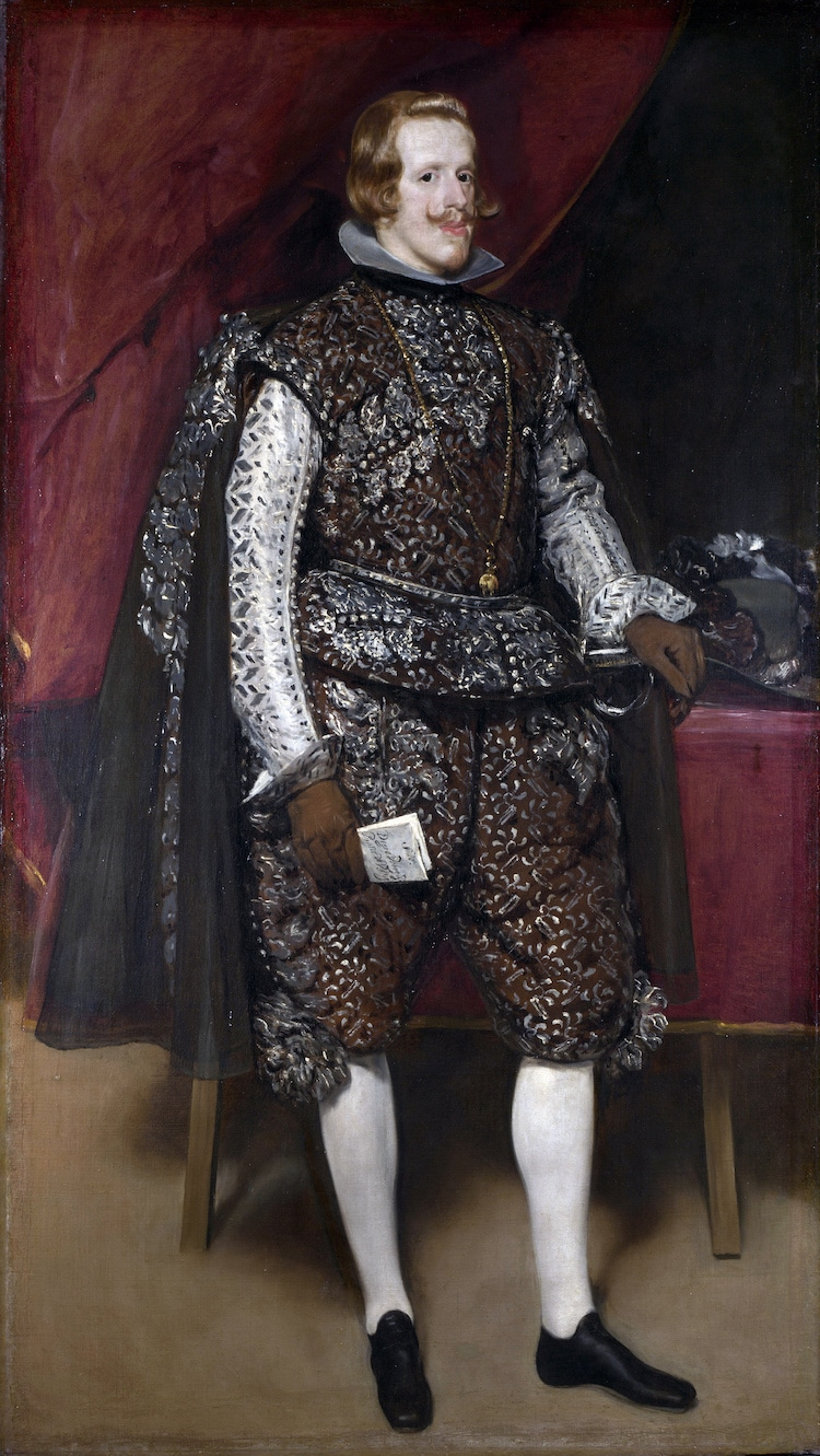 Philip IV in Brown and Silver by Diego Velazquez