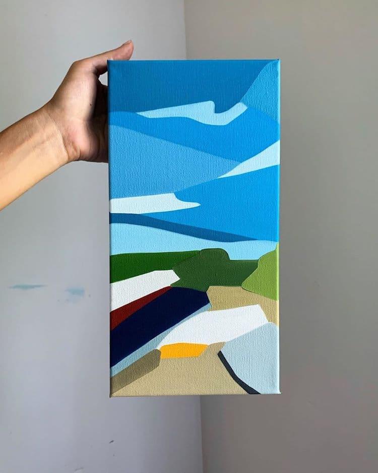 Pinturas de paisajes abstractos por Rachael Cassiani