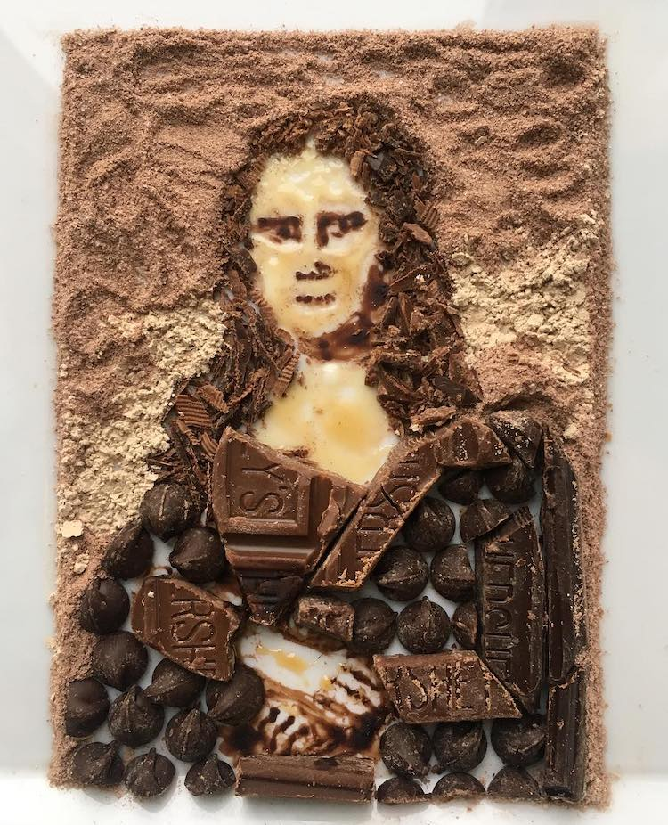 mona lisa de chocolate por Adam Hillman