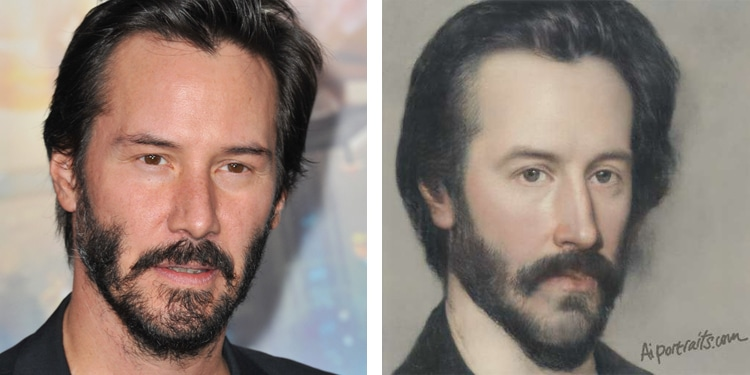 AI Portraits of Keanu Reeves