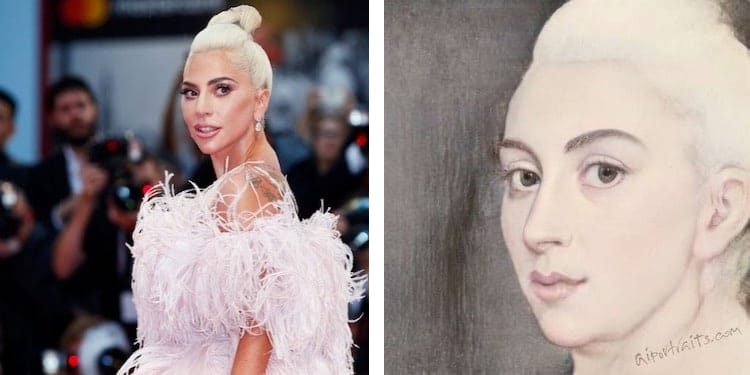 Lady Gaga as a Classical Portrait