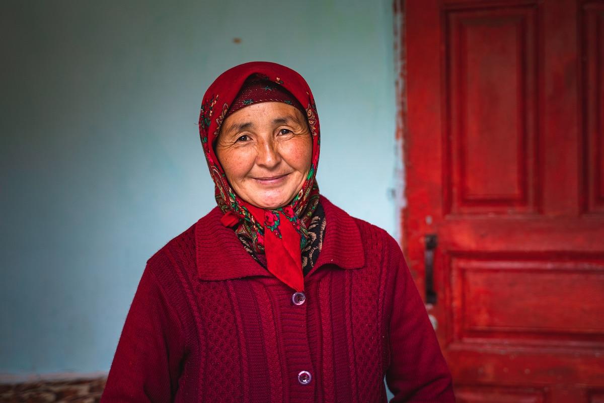 Smiling Woman in Kyrgyzstan