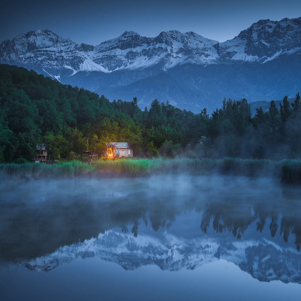 Lakeside Home in Kyrgyzstan by Albert Dros