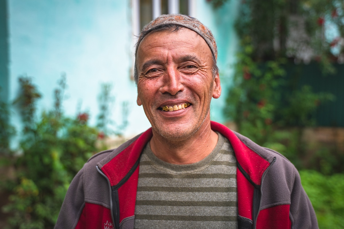 Man With Gold Tooth in Kyrgyzstan