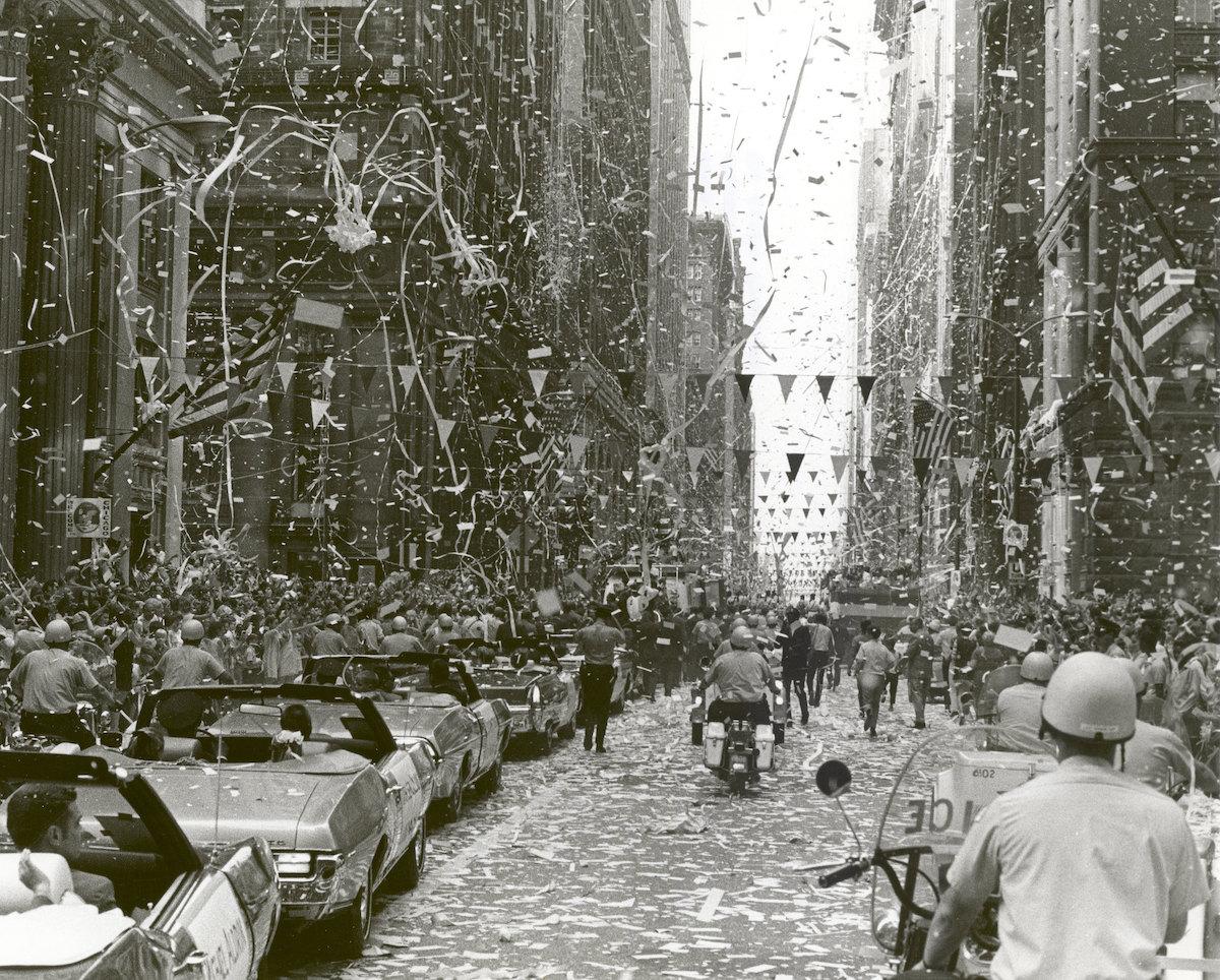 Desfile en celebración de Apolo 11