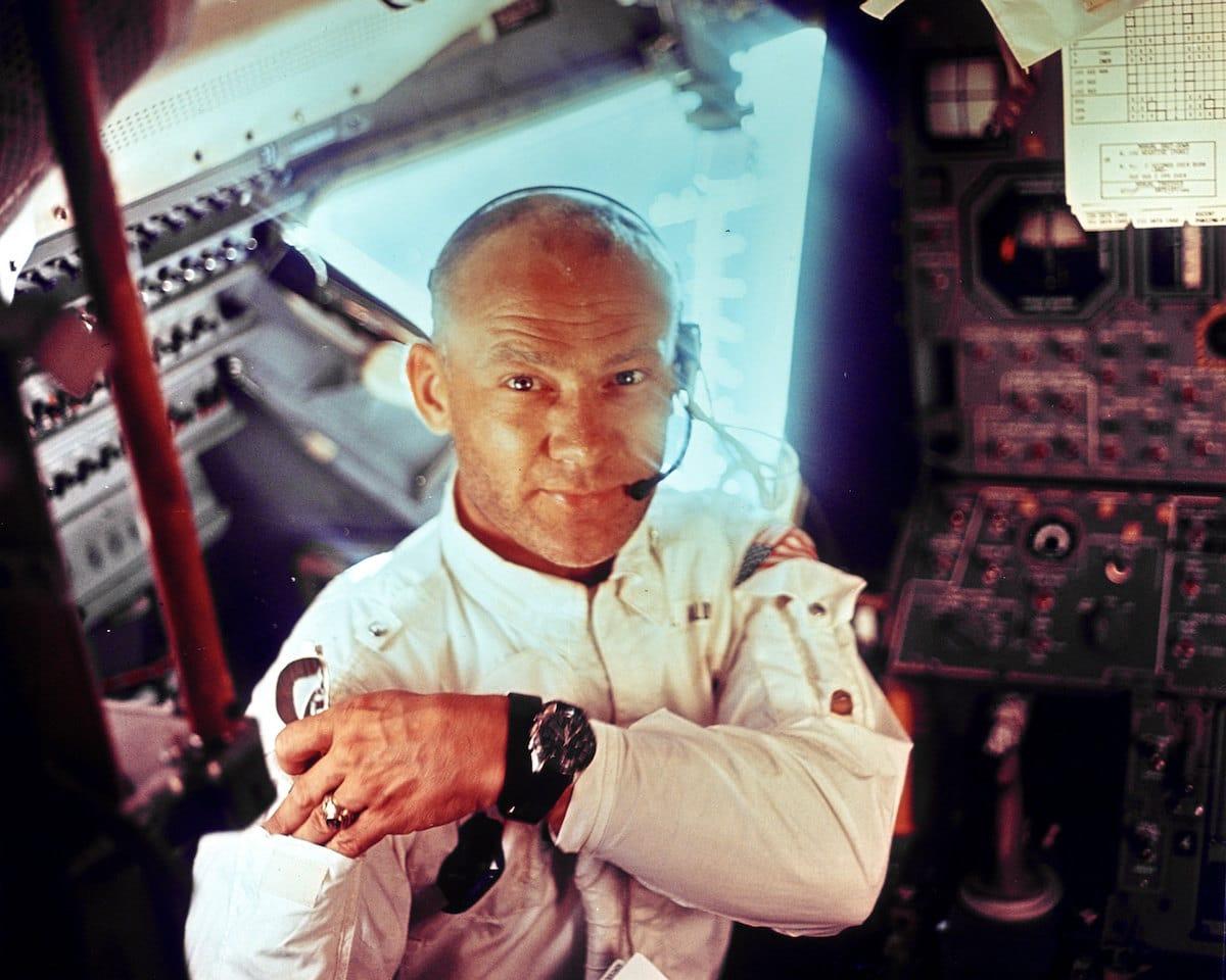 Retrato de Buzz Aldrin