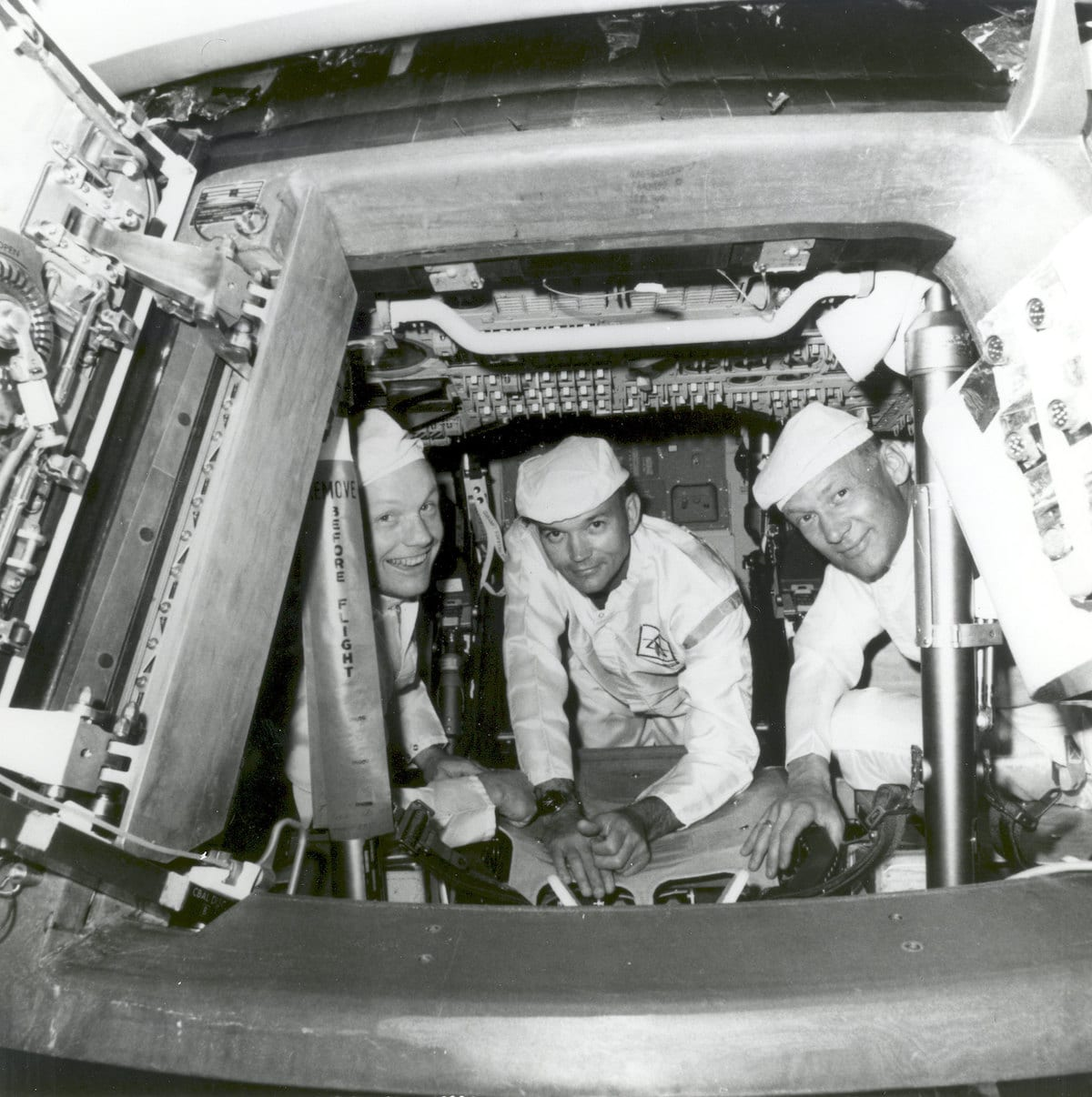 Apollo 11 Crew Conduct Checks in the Command Module