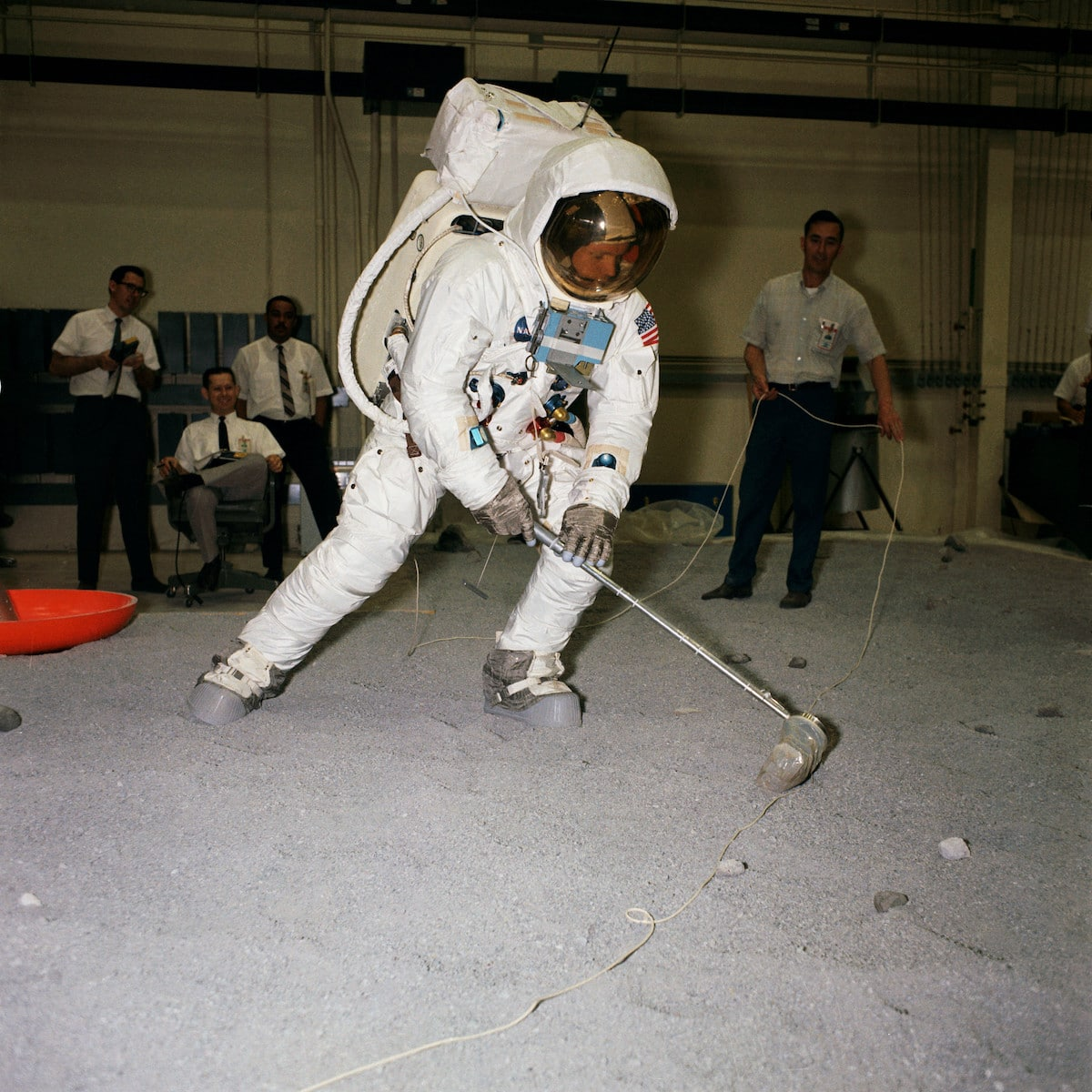 Apollo 11 Astronauts in Training