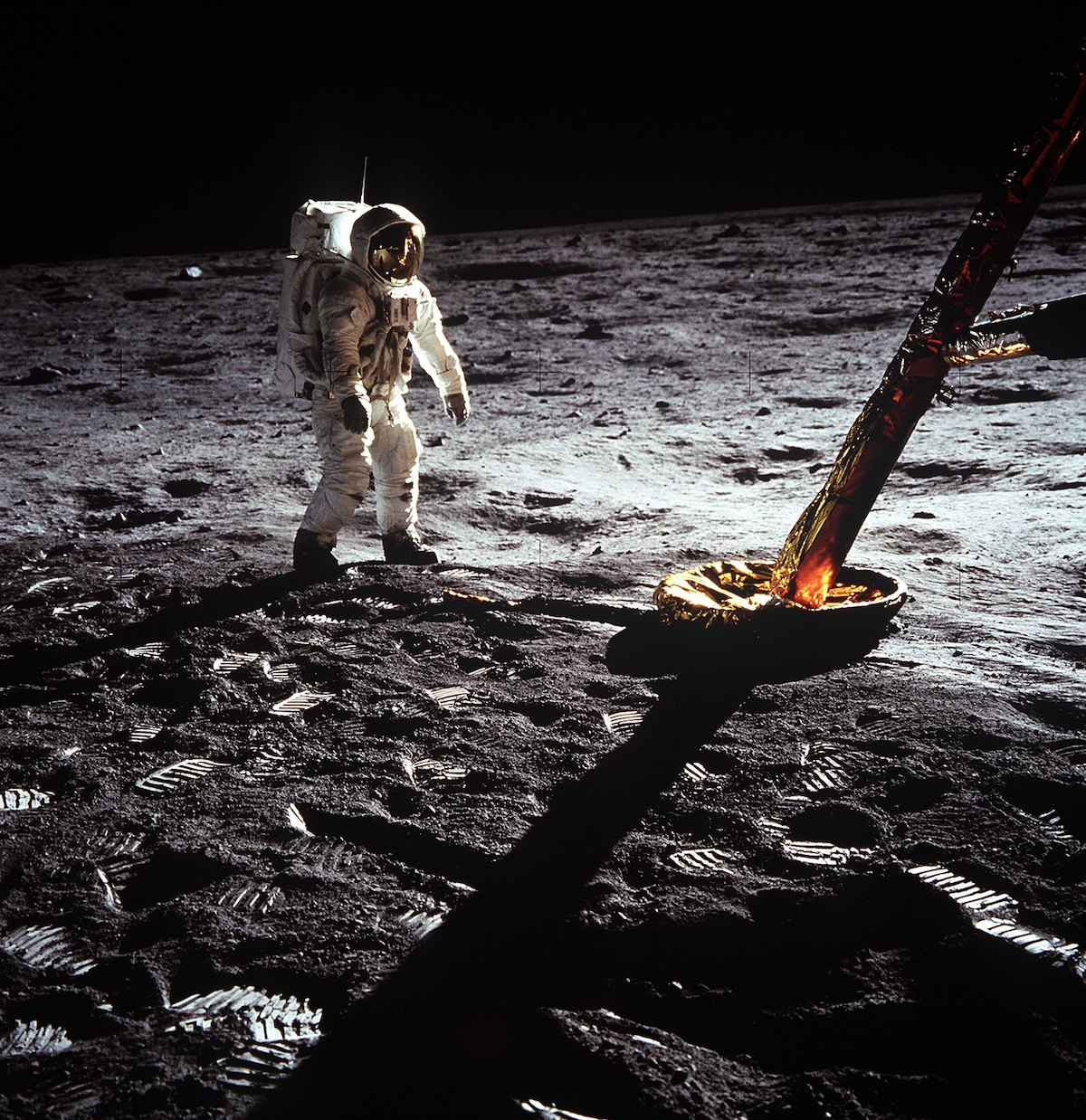 Buzz Aldrin en la Luna